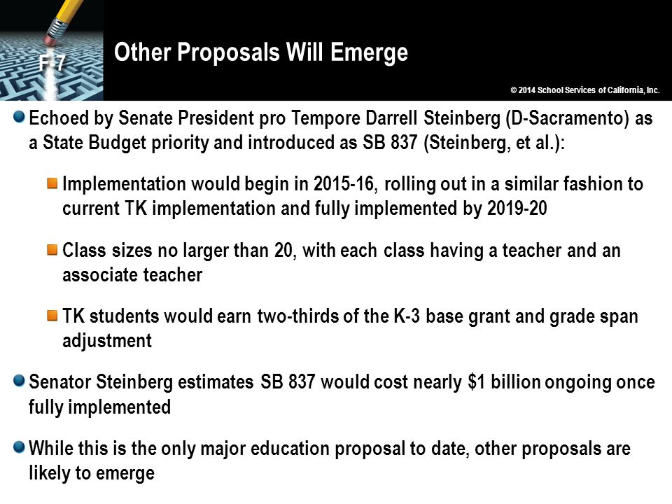 Other Proposals Will Emerge