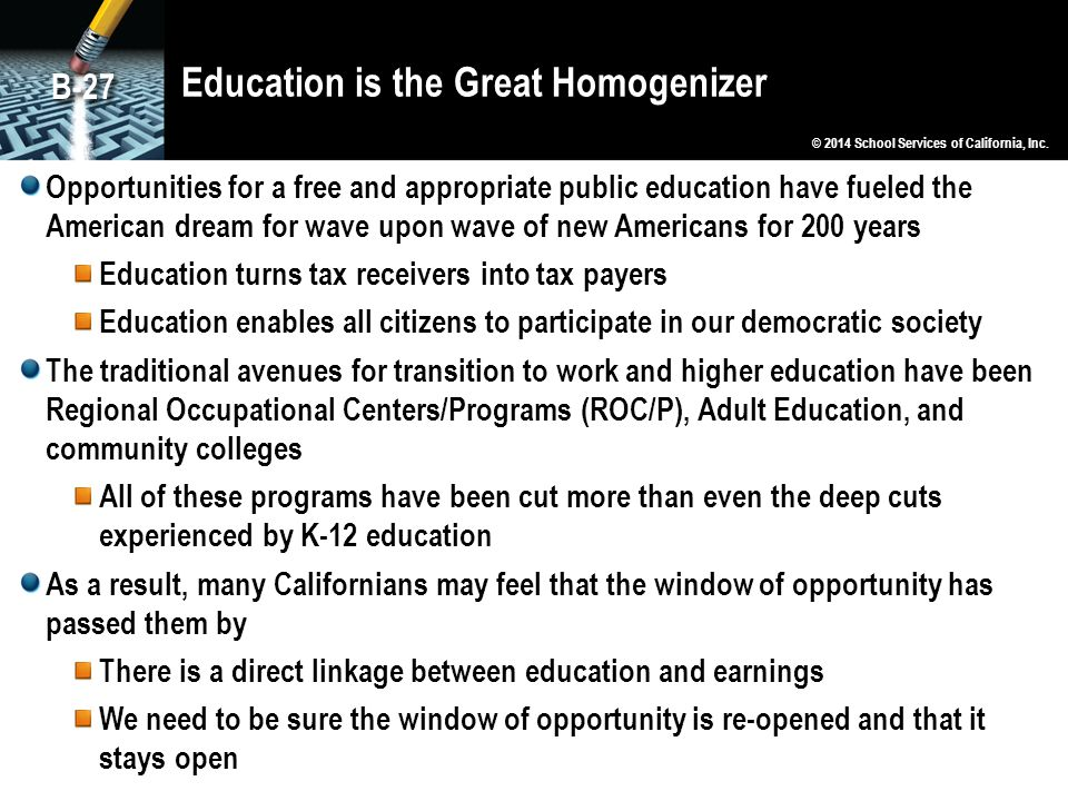Education is the Great Homogenizer