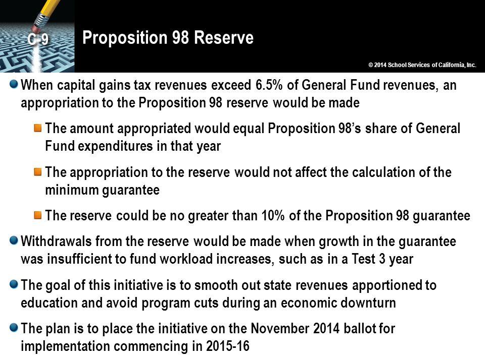 Proposition 98 Reserve C-9