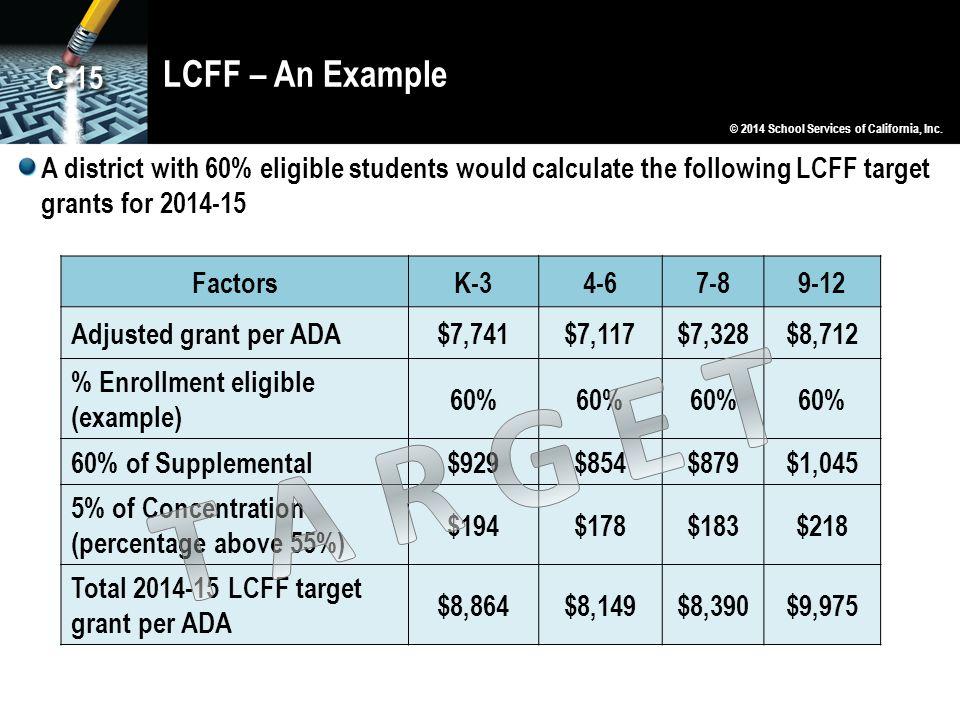 T A R G E T LCFF – An Example C-15