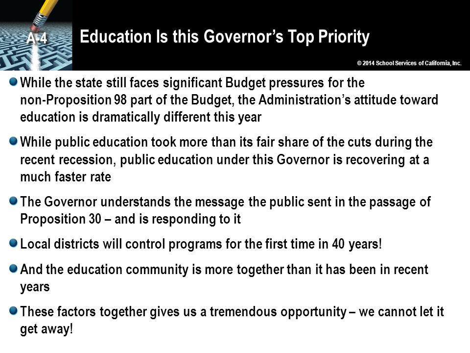 Education Is this Governor's Top Priority