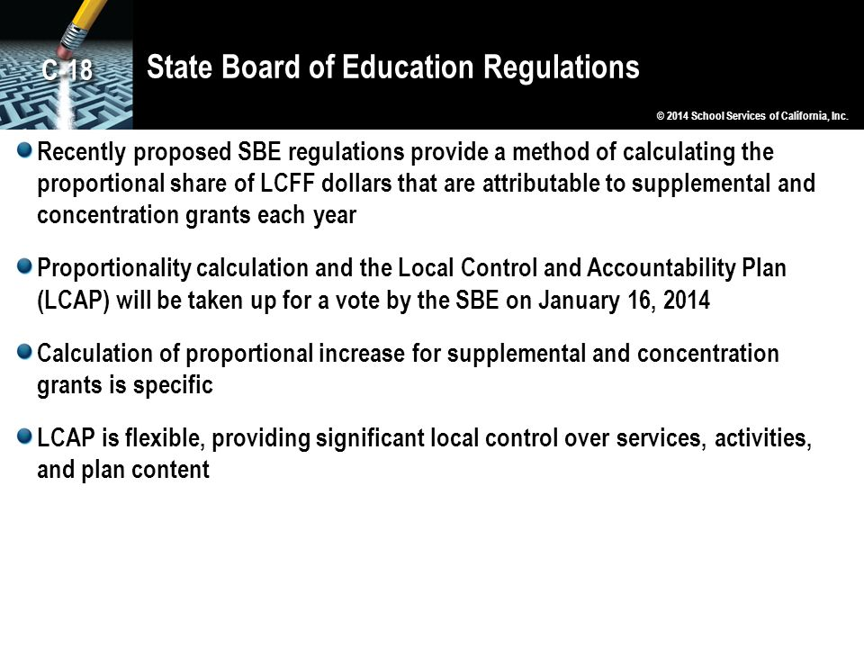 State Board of Education Regulations
