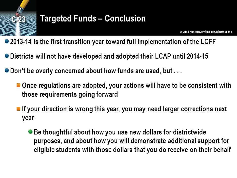 Targeted Funds – Conclusion