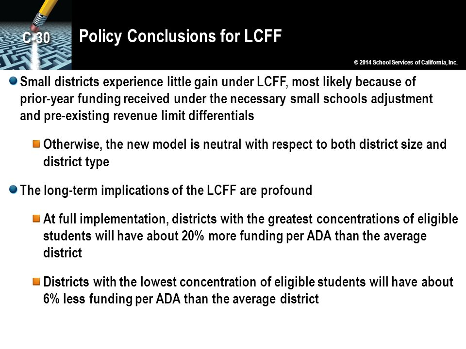 Policy Conclusions for LCFF