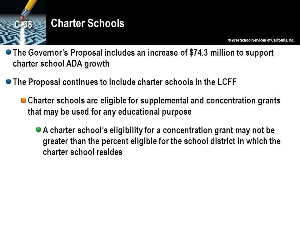 Charter Schools C-38. © 2014 School Services of California, Inc.