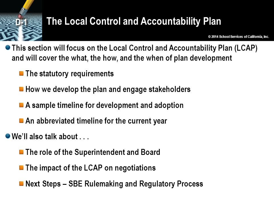The Local Control and Accountability Plan