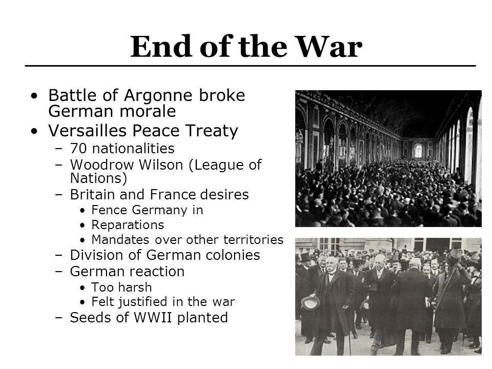 End of the War Battle of Argonne broke German morale