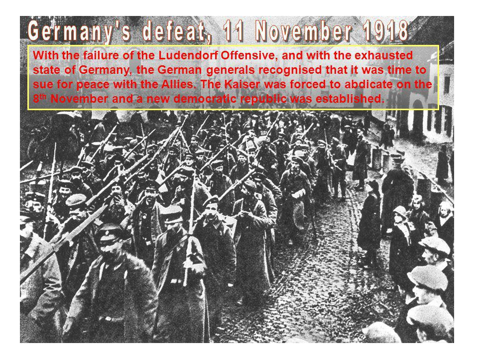 Germany s defeat, 11 November 1918