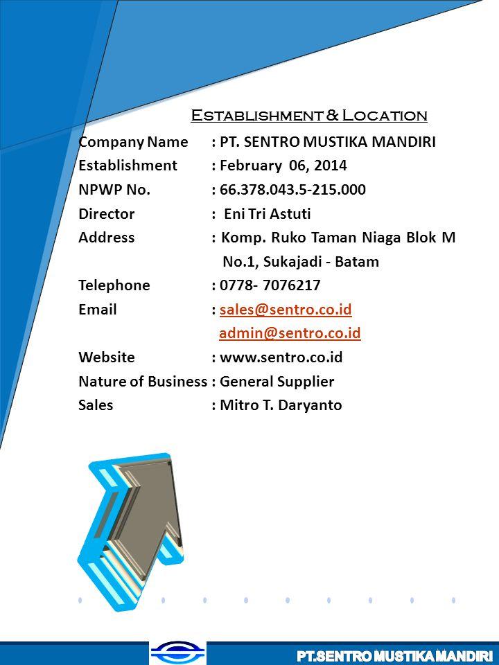 Establishment & Location