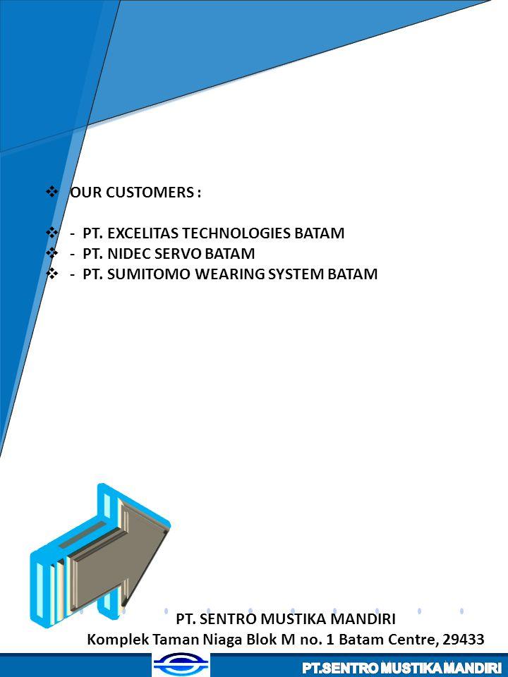 - PT. EXCELITAS TECHNOLOGIES BATAM - PT. NIDEC SERVO BATAM