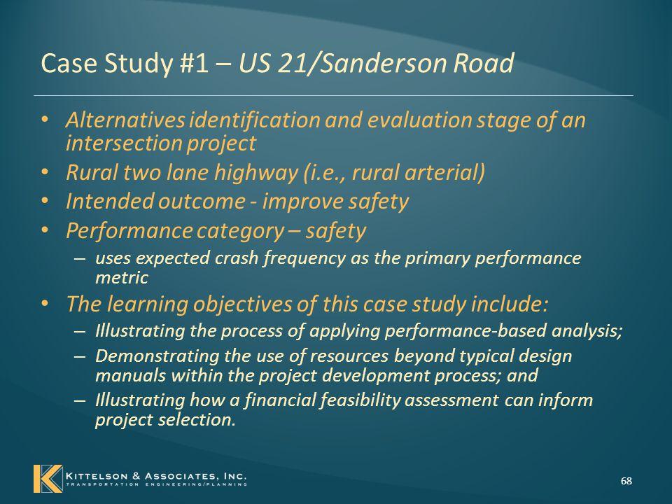 Case Study #1 – US 21/Sanderson Road