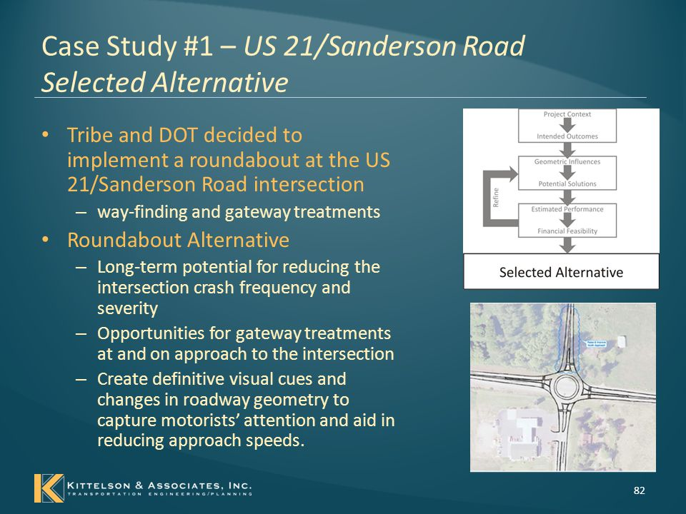 Case Study #1 – US 21/Sanderson Road Selected Alternative