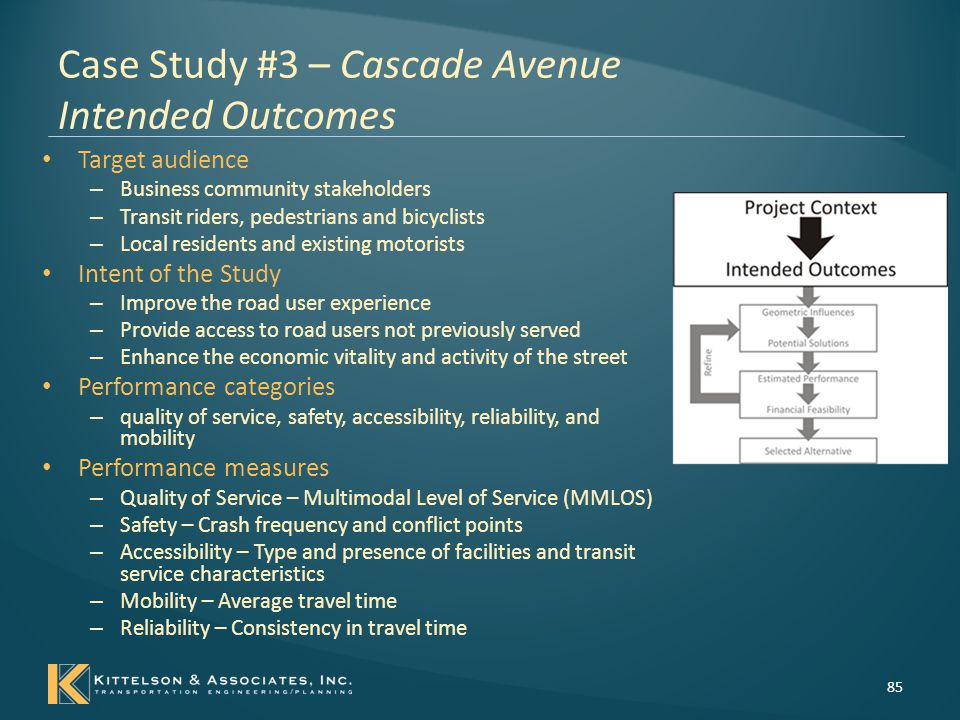 Case Study #3 – Cascade Avenue Intended Outcomes