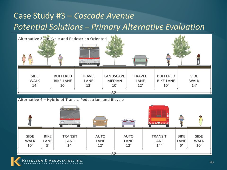 Case Study #3 – Cascade Avenue Potential Solutions – Primary Alternative Evaluation