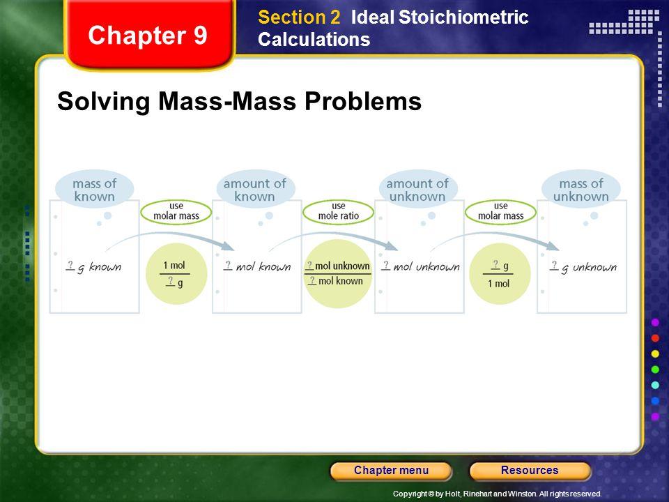 Solving Mass-Mass Problems