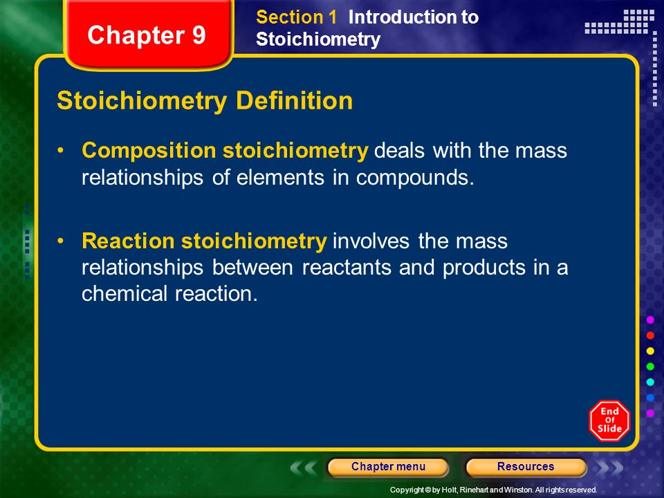 Stoichiometry Definition
