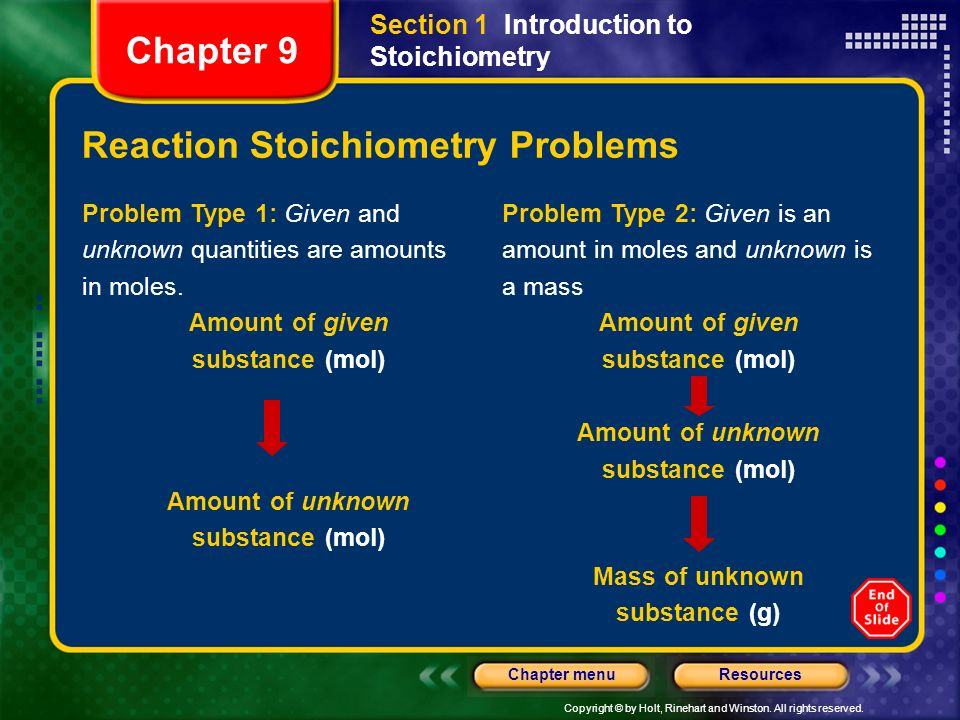 Reaction Stoichiometry Problems