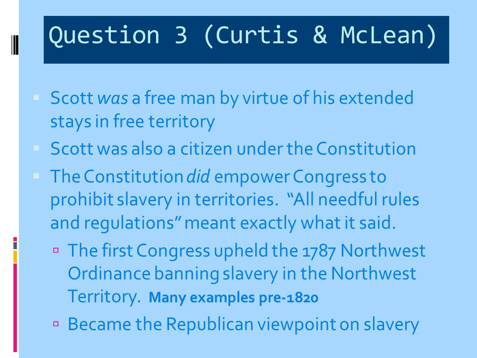 Question 3 (Curtis & McLean)