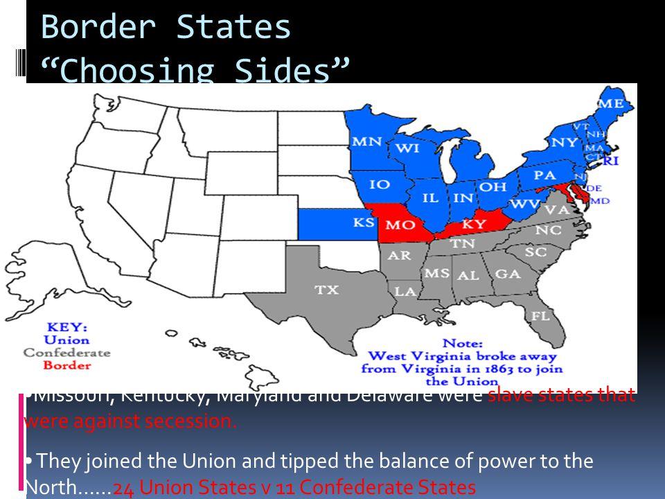 Border States Choosing Sides