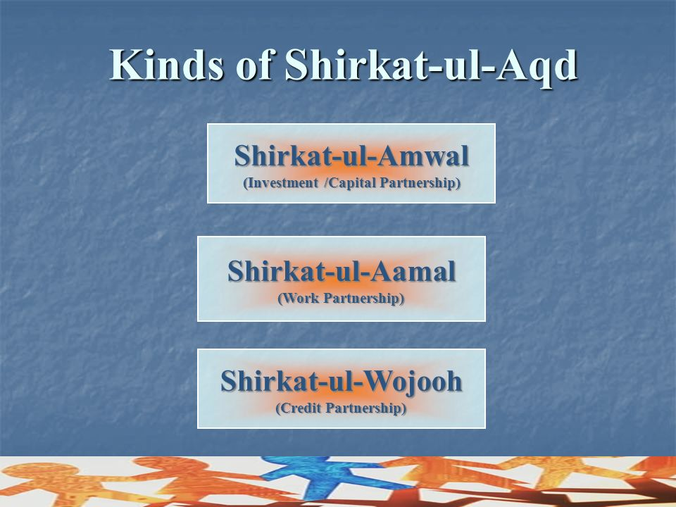 Kinds of Shirkat-ul-Aqd (Investment /Capital Partnership)