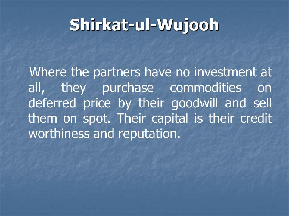 Shirkat-ul-Wujooh