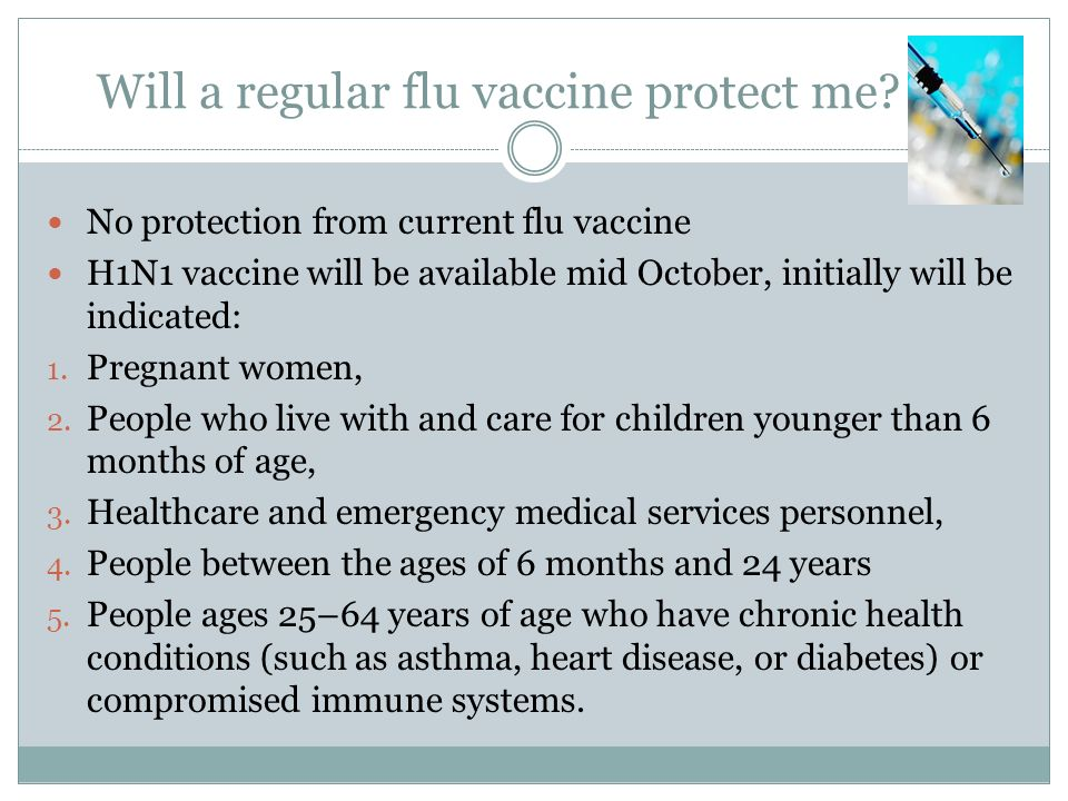 Will a regular flu vaccine protect me