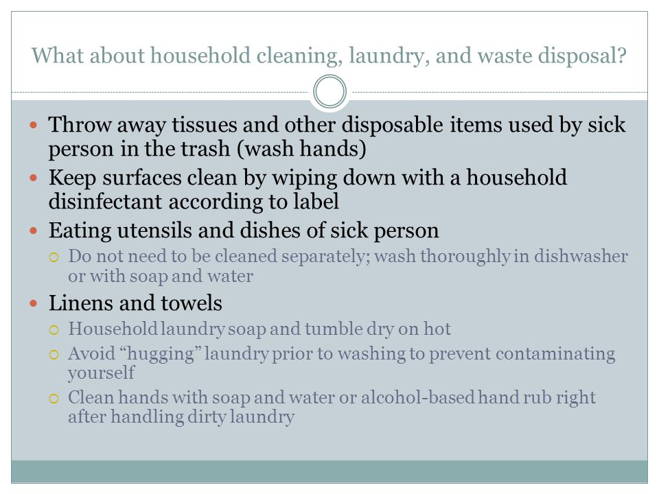 What about household cleaning, laundry, and waste disposal