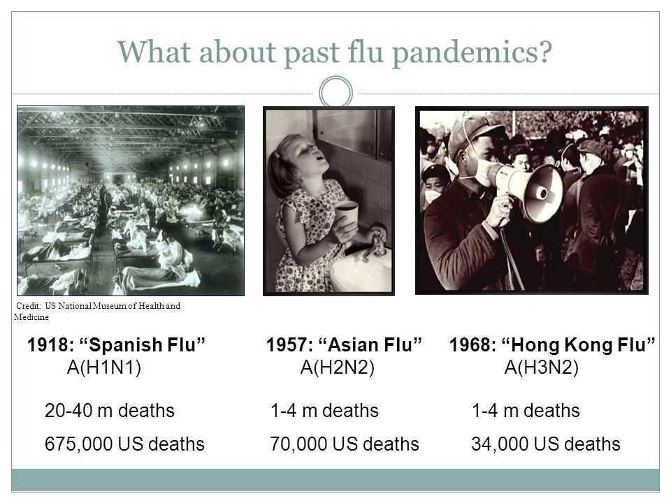What about past flu pandemics