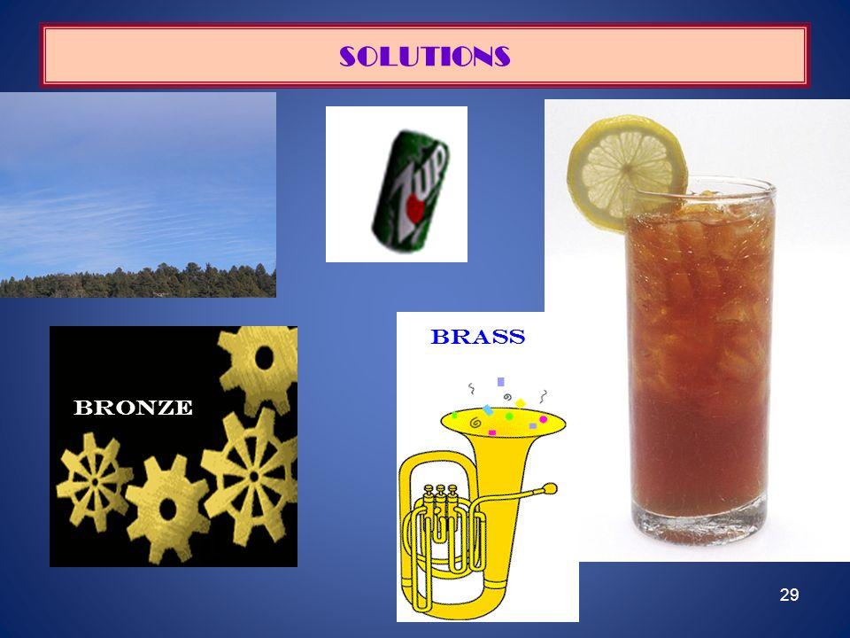 SOLUTIONS brass bRONZE