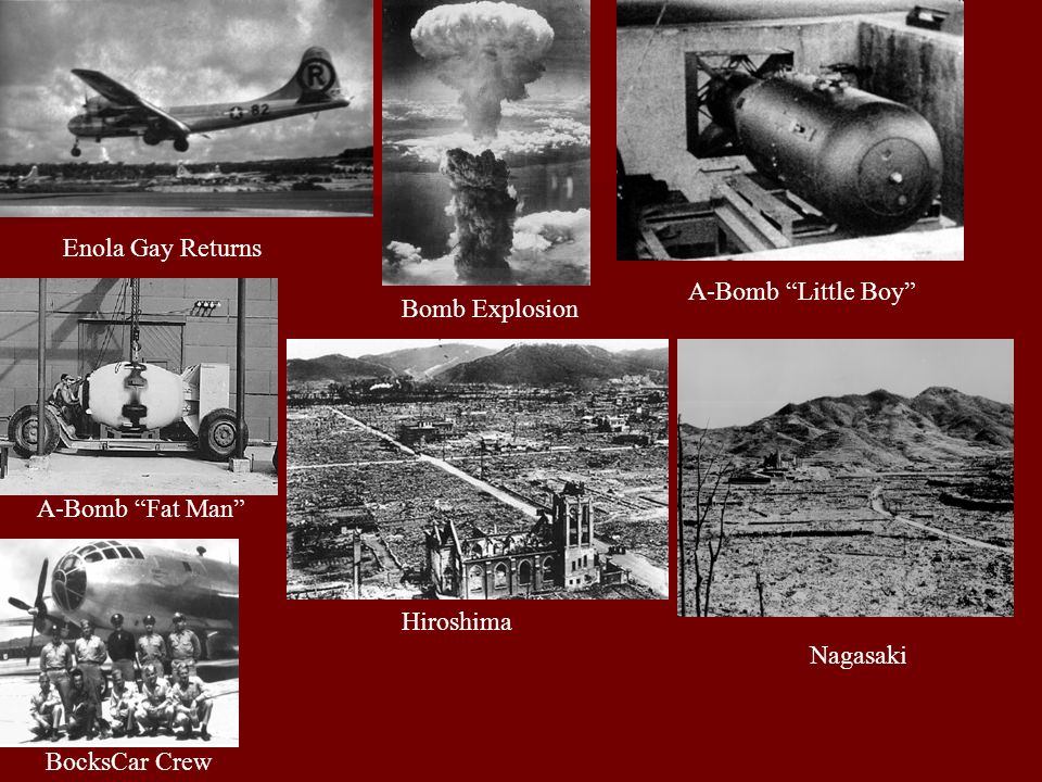 Enola Gay Returns A-Bomb Little Boy Bomb Explosion.