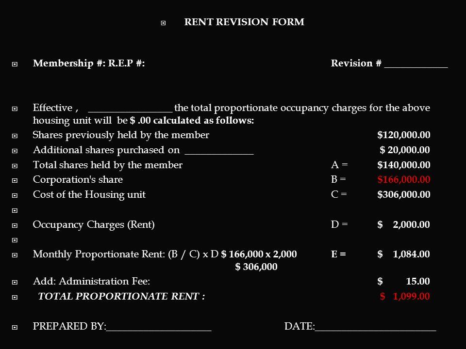 Membership #: R.E.P #: Revision # ____________