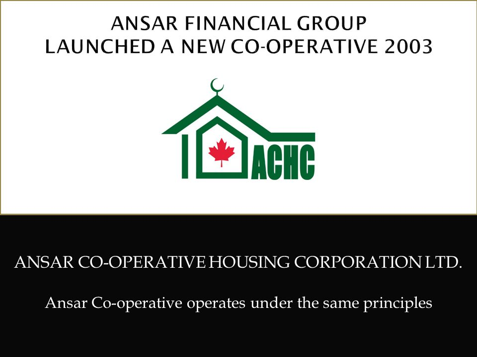 ANSAR FINANCIAL GROUP LAUNCHED A NEW CO-OPERATIVE 2003