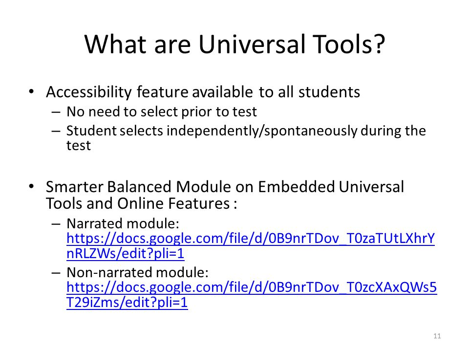 What are Universal Tools
