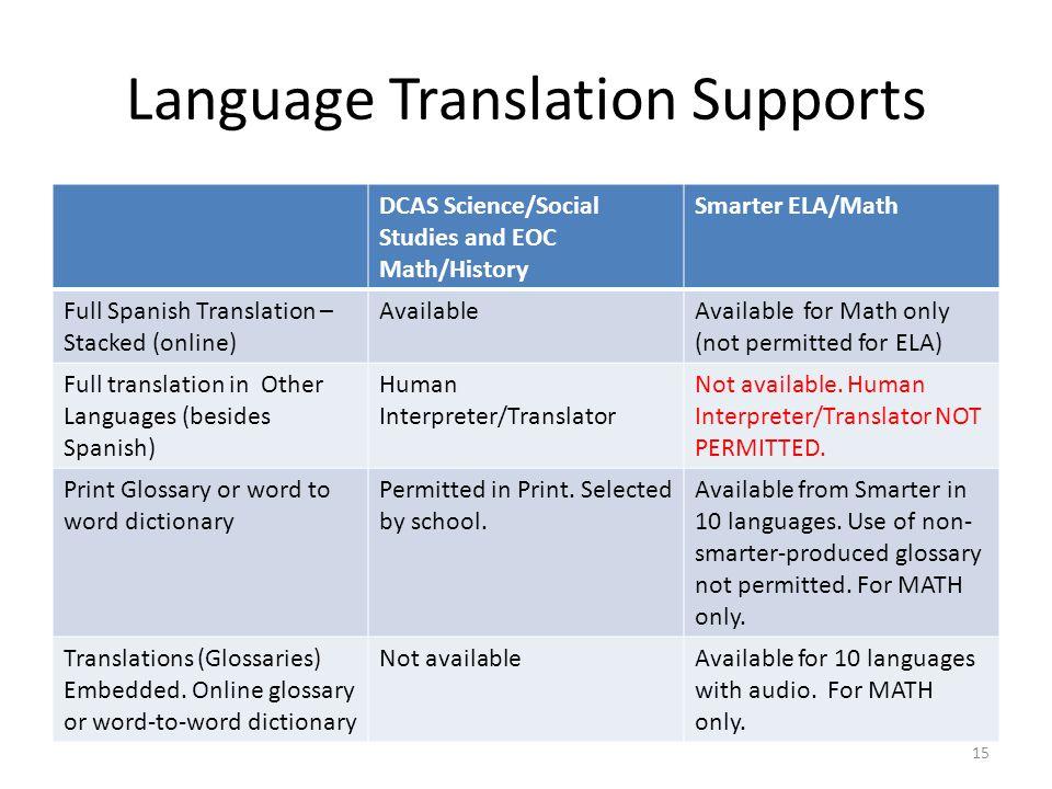 Language Translation Supports