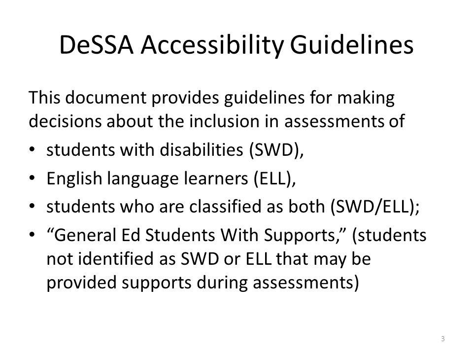 DeSSA Accessibility Guidelines