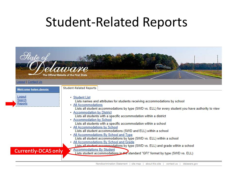 Student-Related Reports
