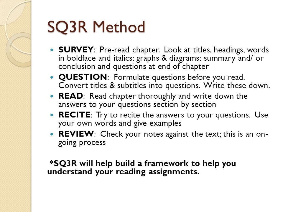 SQ3R Method