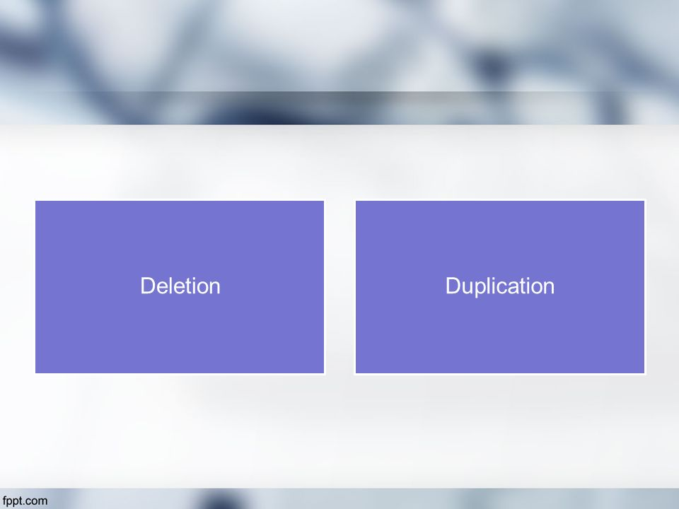 Deletion Duplication