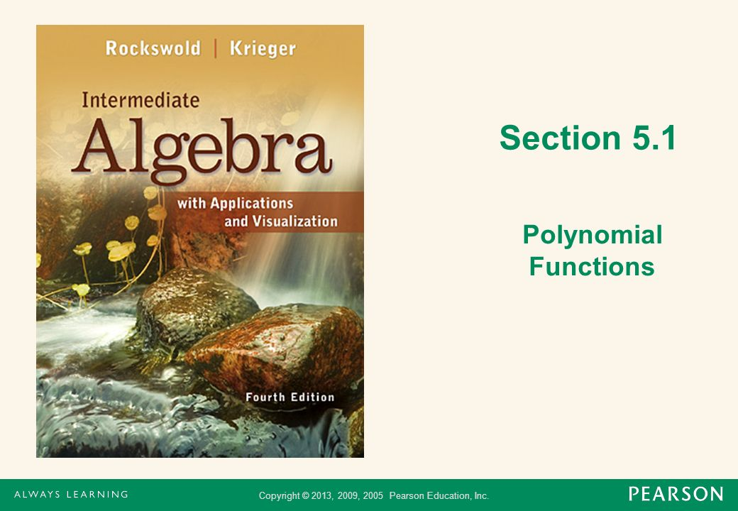 Section 5.1 Polynomial Functions
