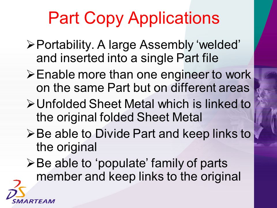 Part Copy Applications
