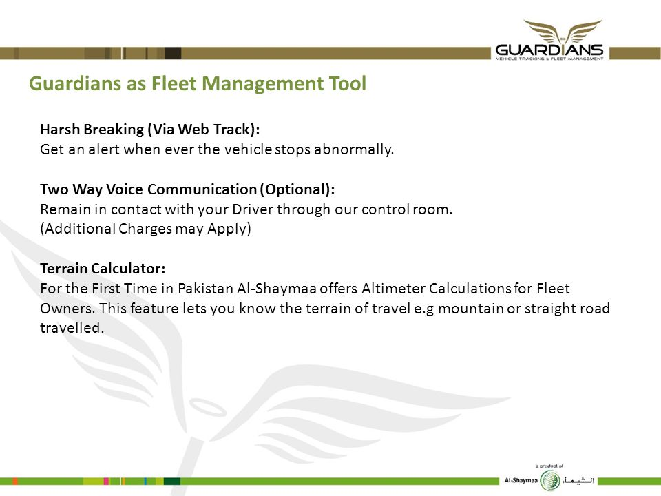Guardians as Fleet Management Tool