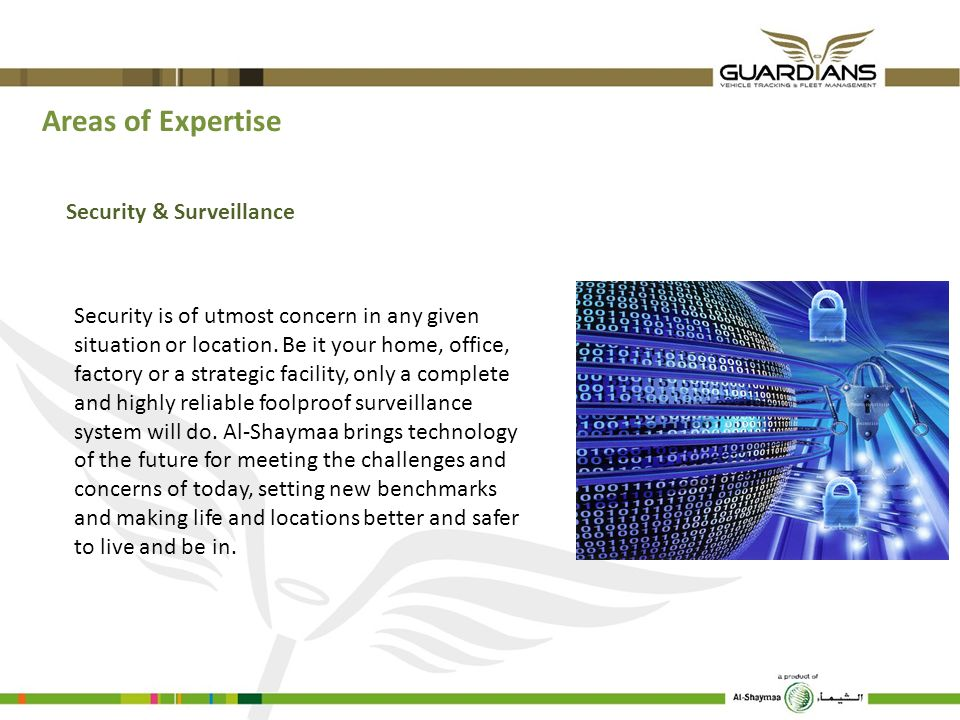 Areas of Expertise Security & Surveillance