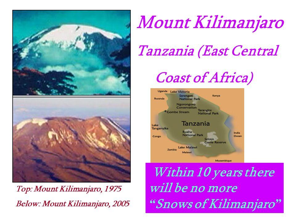 Mount Kilimanjaro Tanzania (East Central Coast of Africa)