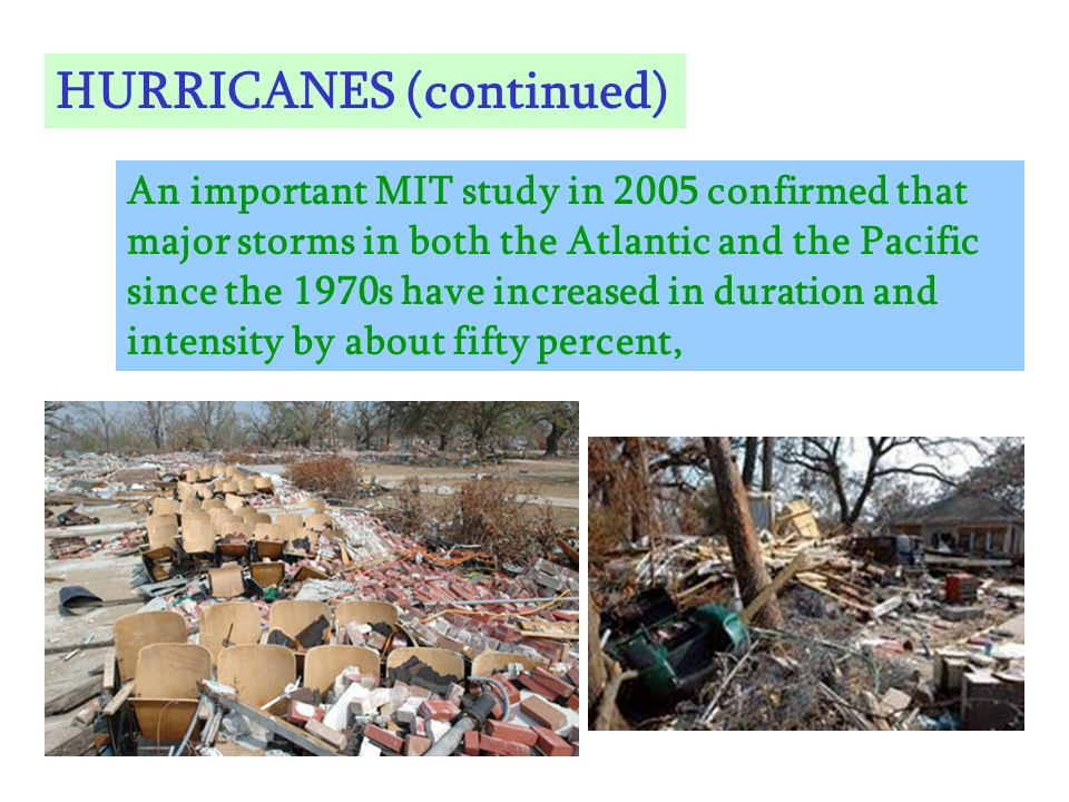 HURRICANES (continued)