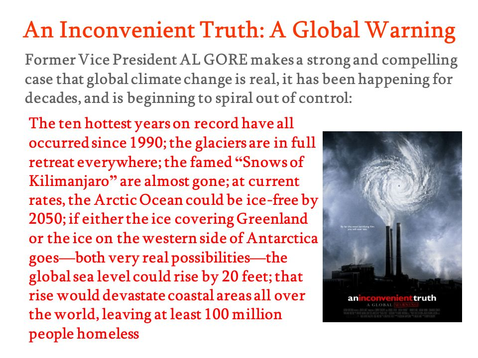 An Inconvenient Truth: A Global Warning