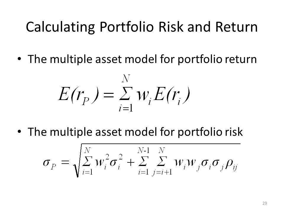 Calculating Portfolio Risk and Return
