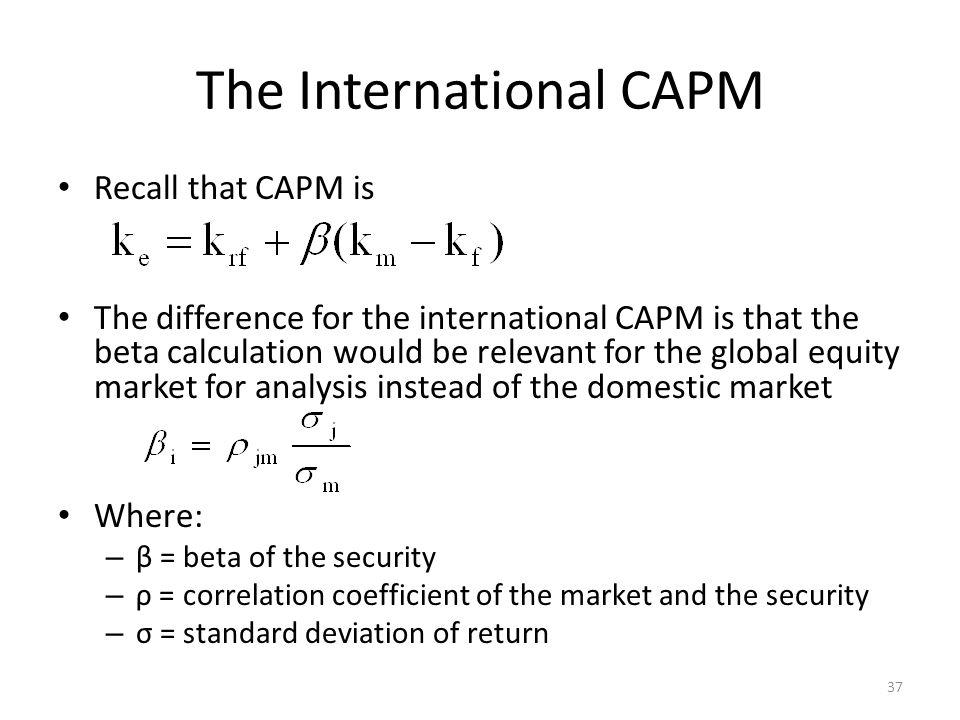 The International CAPM
