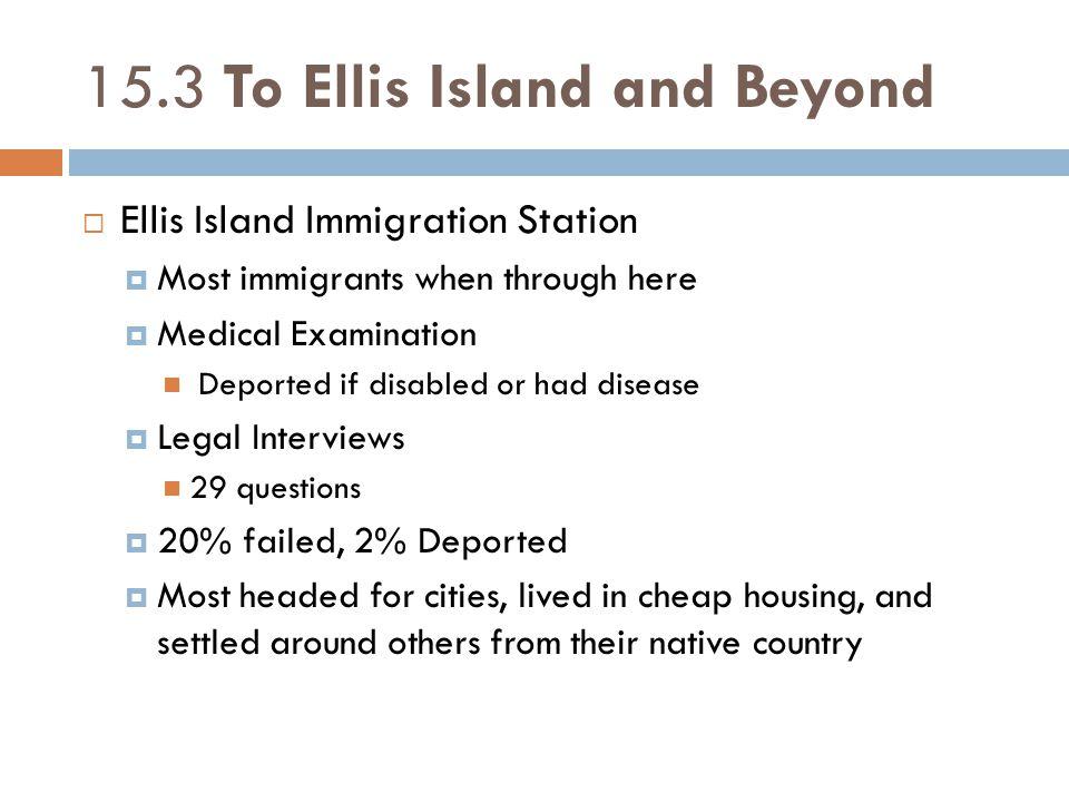 15.3 To Ellis Island and Beyond