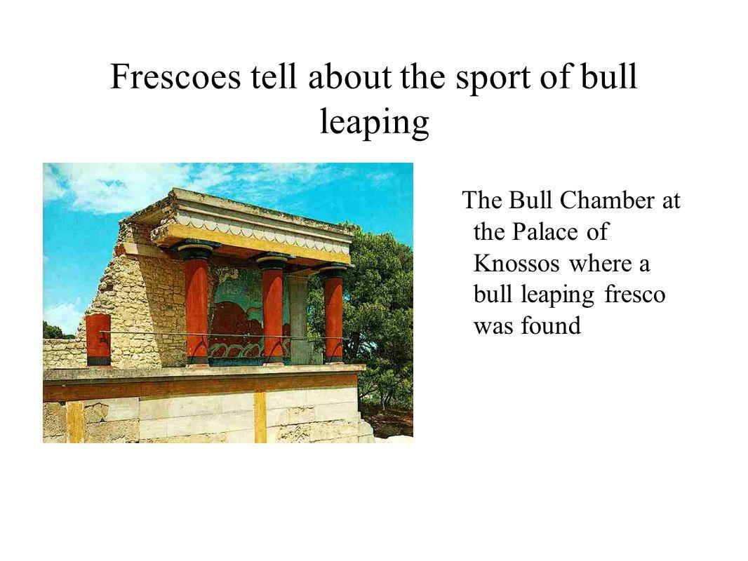 Frescoes tell about the sport of bull leaping