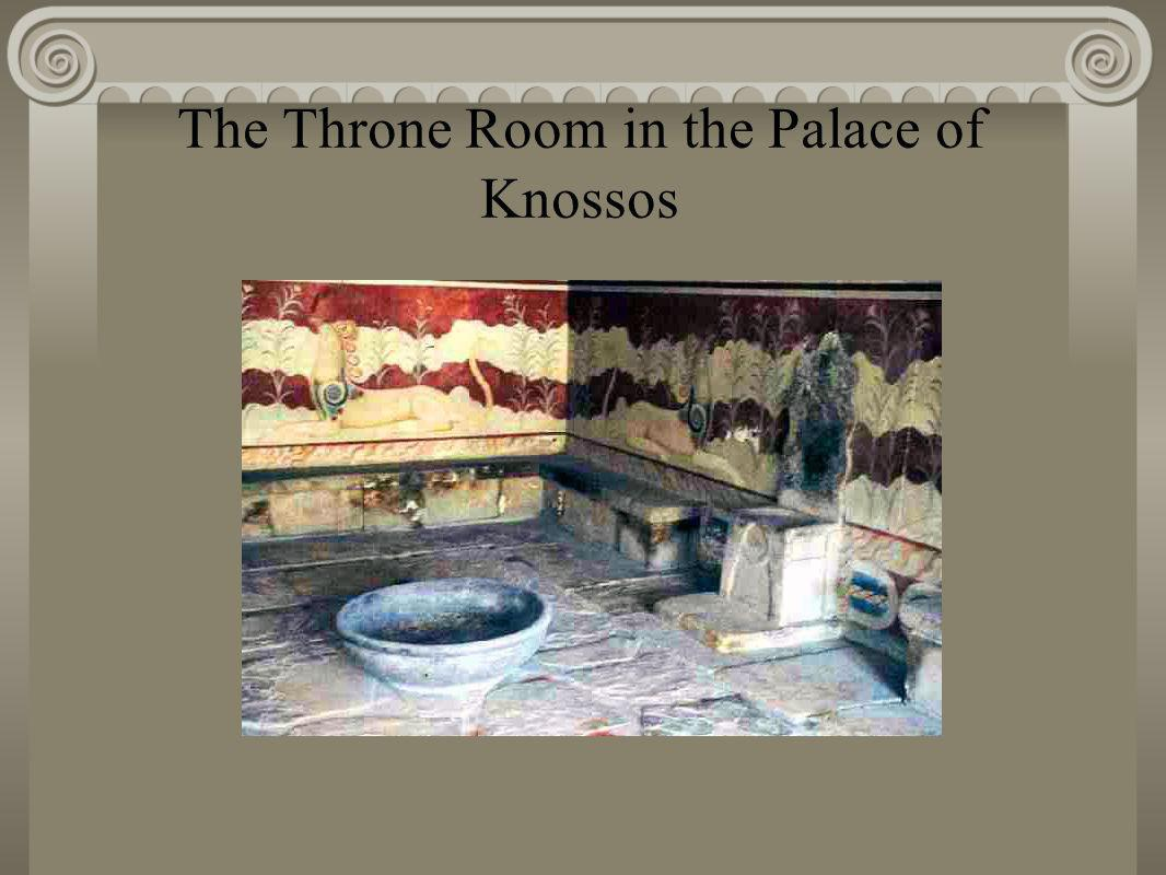The Throne Room in the Palace of Knossos
